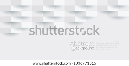 White abstract texture. Vector background 3d paper art style can be used in cover design, book design, poster, cd cover, flyer, website backgrounds or advertising. #1036771315