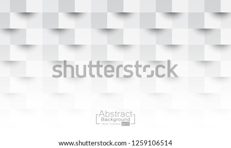 White abstract texture. Vector background 3d paper art style can be used in cover design, book design, poster, cd cover, flyer, website backgrounds or advertising. #1259106514