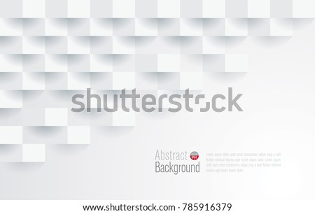 White abstract texture. Vector background 3d paper art style can be used in cover design, book design, poster, cd cover, website backgrounds or advertising.