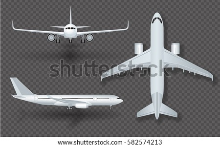 white airplane with shadow icon