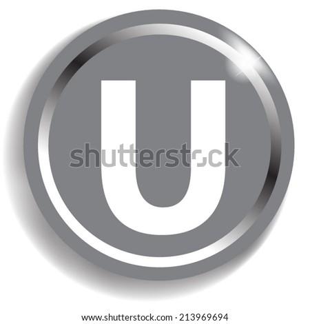 white alphabet on silver background