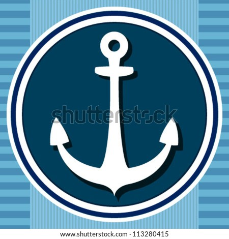 white anchor icon