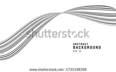 white and black abstract curve
