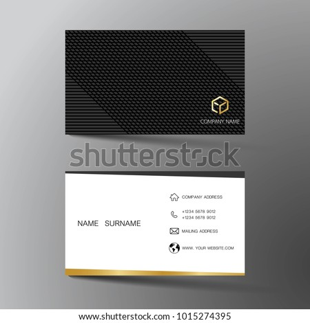 Two sided business card vector design download free vector art white and black business card template design with inspiration from the abstract two sided flashek Gallery