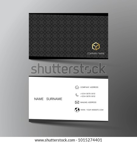 Two sided business card vector design download free vector art white and black business card template design with inspiration from the abstract two sided fbccfo Images