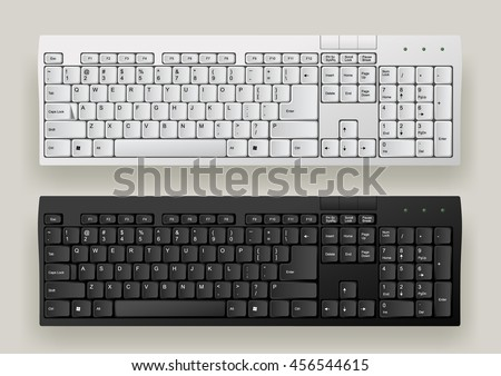 white and black computer