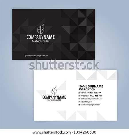 Black and white business card template download free vector art white and black modern business card template illustration vector 10 reheart Choice Image