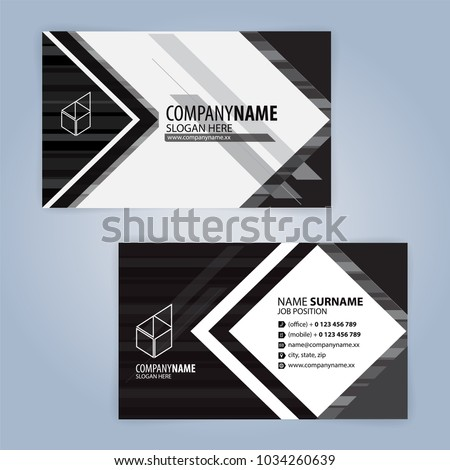 Dark simple business card template vector design illustration white and black modern business card template illustration vector 10 reheart Gallery