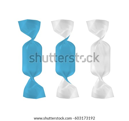white and blue foil food snack