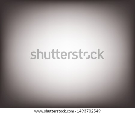 White and gray blurred vector background, blank light radial gradient. Minimal studio room backdrop. Modern vignette photo effect, empty 3d template, gradient. Сток-фото ©