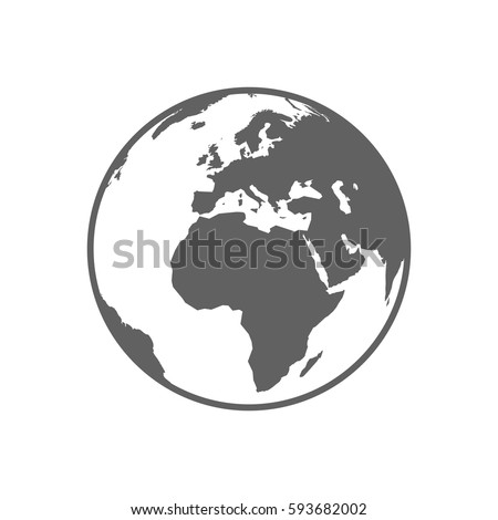 white and gray flat globe