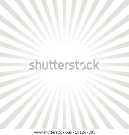 White and gray ray burst style background