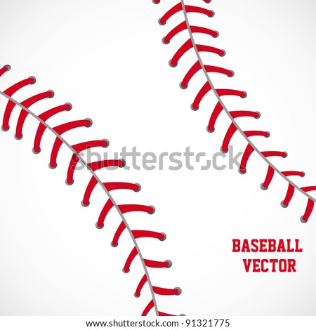 white and red baseball textured background vector illustration