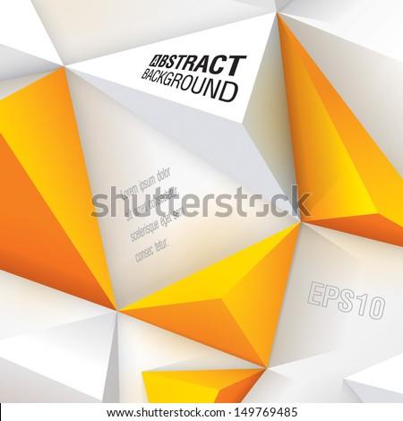 white and yellow geometric