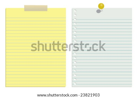 White and yellow vector paper (JPG & Vector available in my portfolio) - stock vector