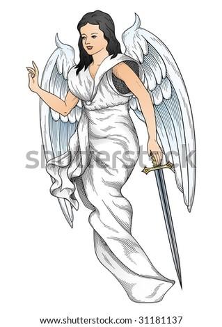 White Angel  vector - stock vector