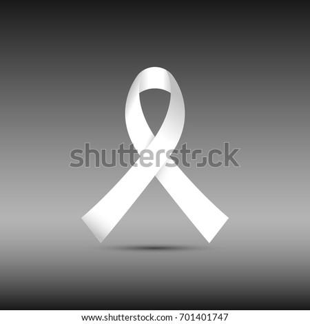 white awareness ribbon isolated
