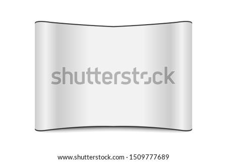 White backdrop mockup vector. Backdrop mockup isolate on white background.