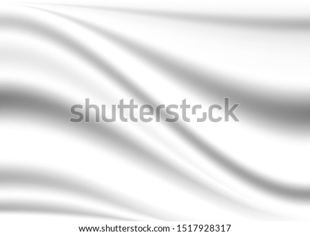 white background. blurred draped cloth background.