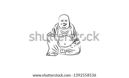 white background buddhism
