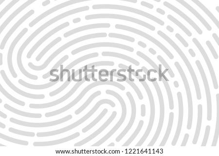 White background fingerprint, print, banner identification. Vector illustration