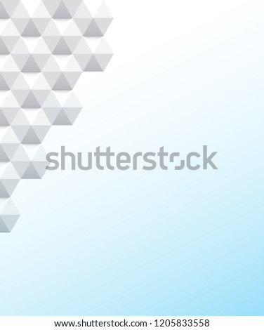 White background geometric pattern vector, style pattern