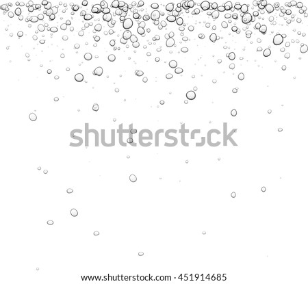 White background with bubbles. Vector water illustration.