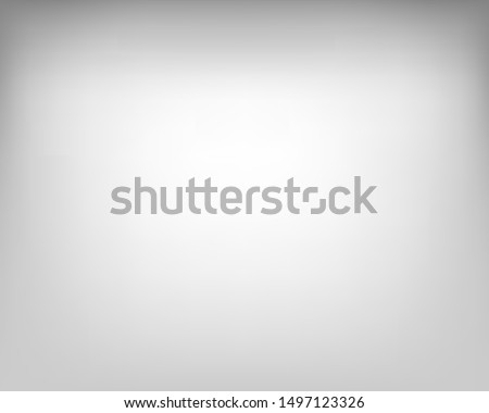 White background with gray gradient, interior, studio room. Abstract white gray gradient display products backgrounds.