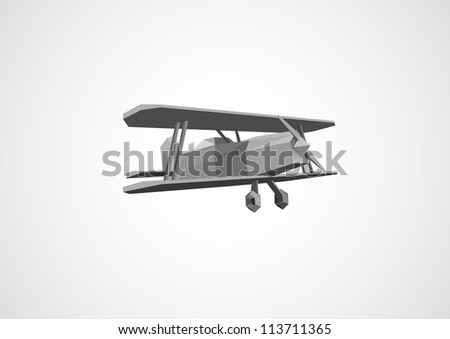 White background with grey polygon 3d plane