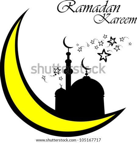 White background with isolated icon for ramadan kareem. Vector Illustration