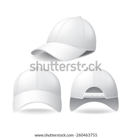 white baseball cap isolated on