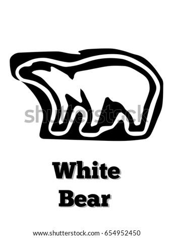 white bear vector icon it's