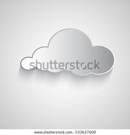 white beautiful paper cut cloud
