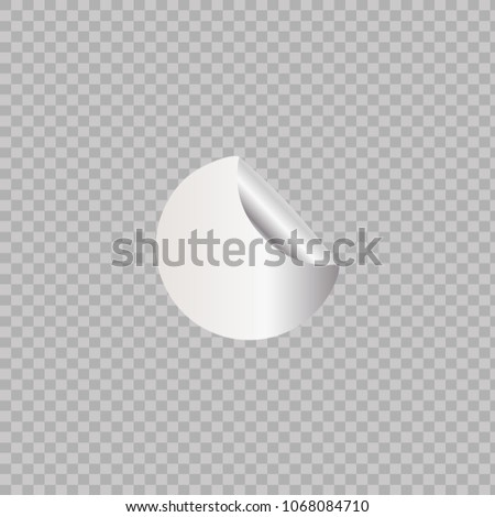 White bended sticker. Vector. #1068084710