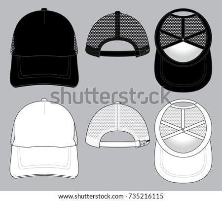 guy in a trucker hat illustration download free vector art stock