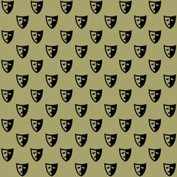 white black two side sad face mask on dark background repeat pattern