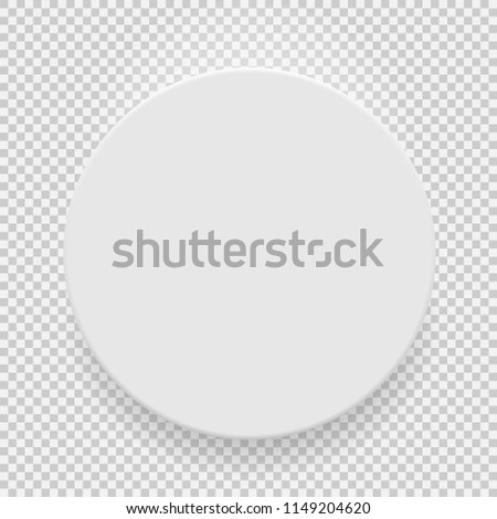 White blank model template top view with shadow isolated on transparent background. Vector Illustration EPS10 #1149204620