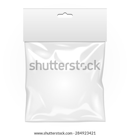 white blank plastic pocket bag