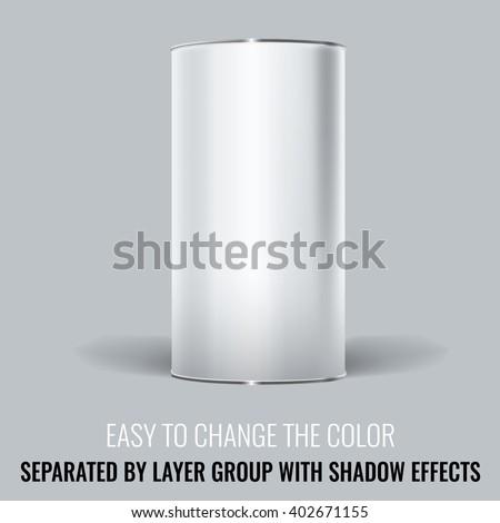 white blank tincan packaging