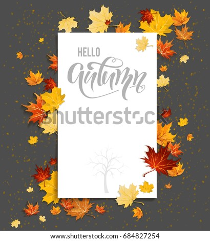 stock-vector-white-blank-with-autumn-maple-leaves-on-background-nature-fall-template-for-design-banner-ticket