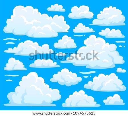 white blue day cumulus cloud