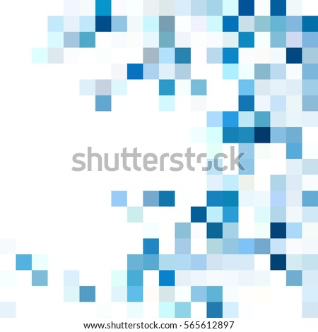 White blue mosaic background. Geometric template with mesh of squares for your amazing design.