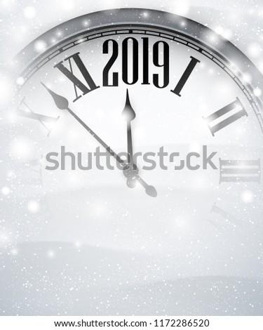 white blurred 2019 new year