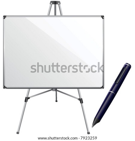 white board and pen vector