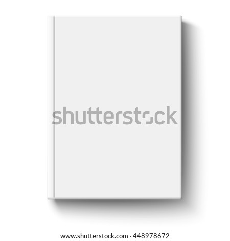 White book cover isolated #448978672