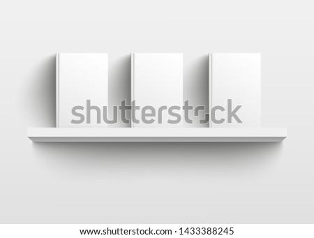 white book shelf mockup with