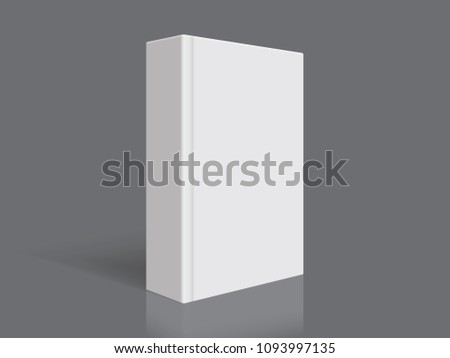 white book with thick cover isolated on black background mock up vector ストックフォト ©