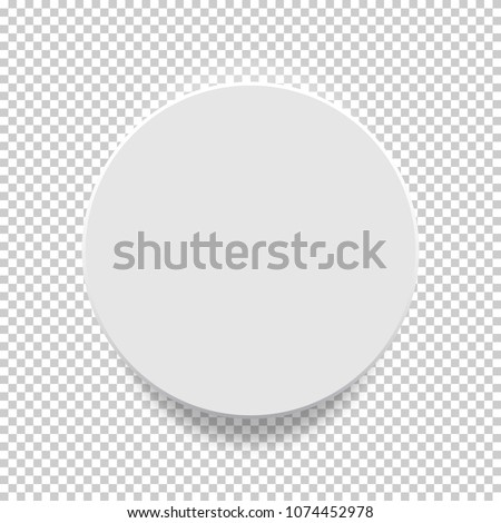 White box. Circle mock up model 3D top view with shadow. Vector illustration. #1074452978