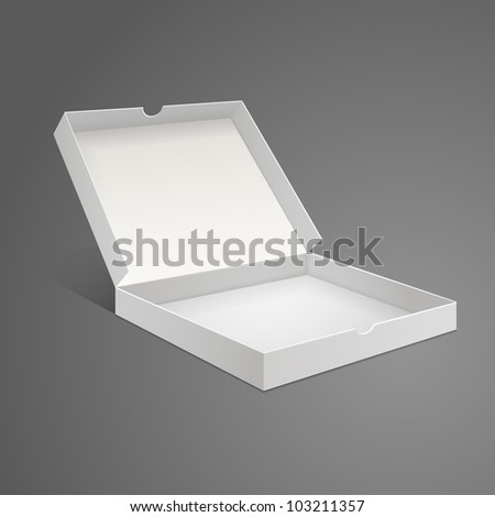 White Box from pizzas on a gray background