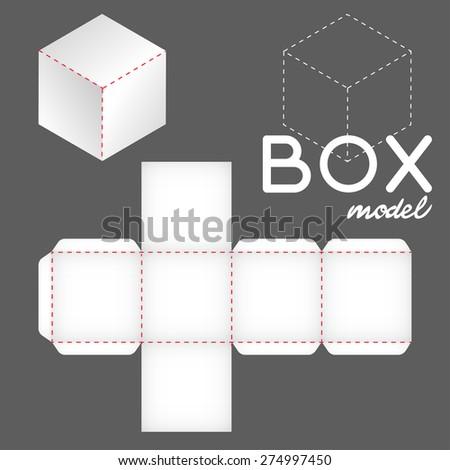 white box model, cube template